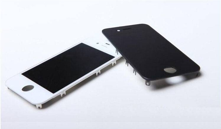 Original New Product lcd with touch screen digitizer + bezel + flex cable for iphone 4