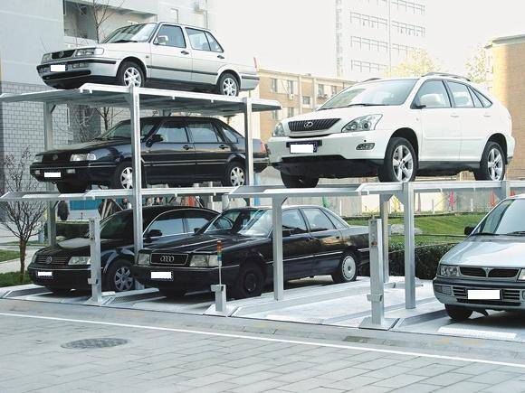 one ground & two under pit car parking system PJS-3