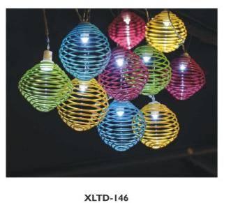 Outdoor solar moroccan string lights