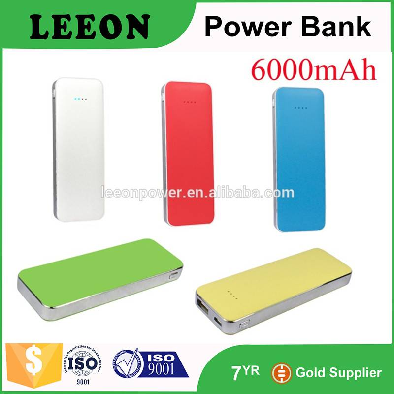 Wholesale colorful wireless power bank charger 6000mAh