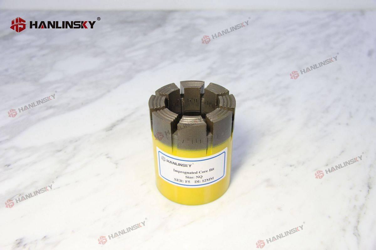 NQ impregnated diamond core drill bits