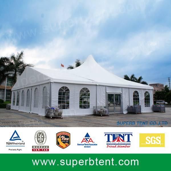 A-high peak combination luxury canopy church tent
