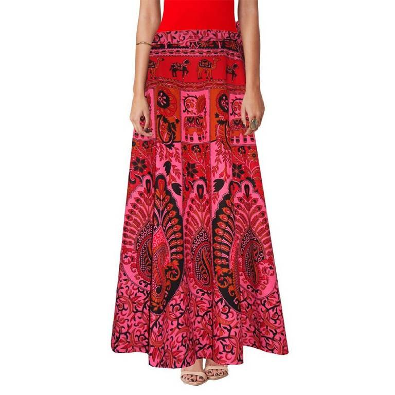 Ethnic Wrap-around Skirts