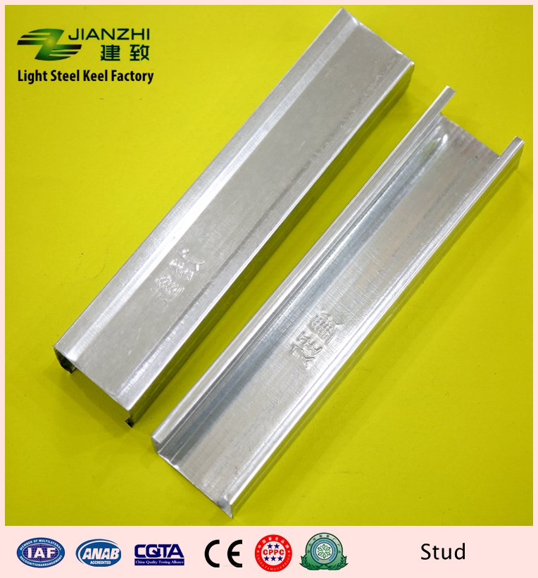 Best sale 50/32mm vertical galvanized steel c stud for partiton system