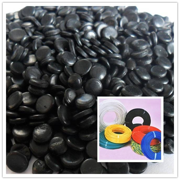 Black PE granules for cable sheath compound used for cable sheath masterbatch