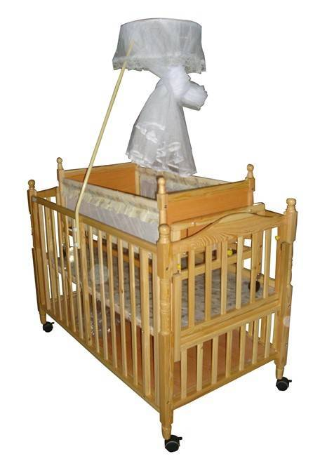 JF8090 multi-function wooden baby bed
