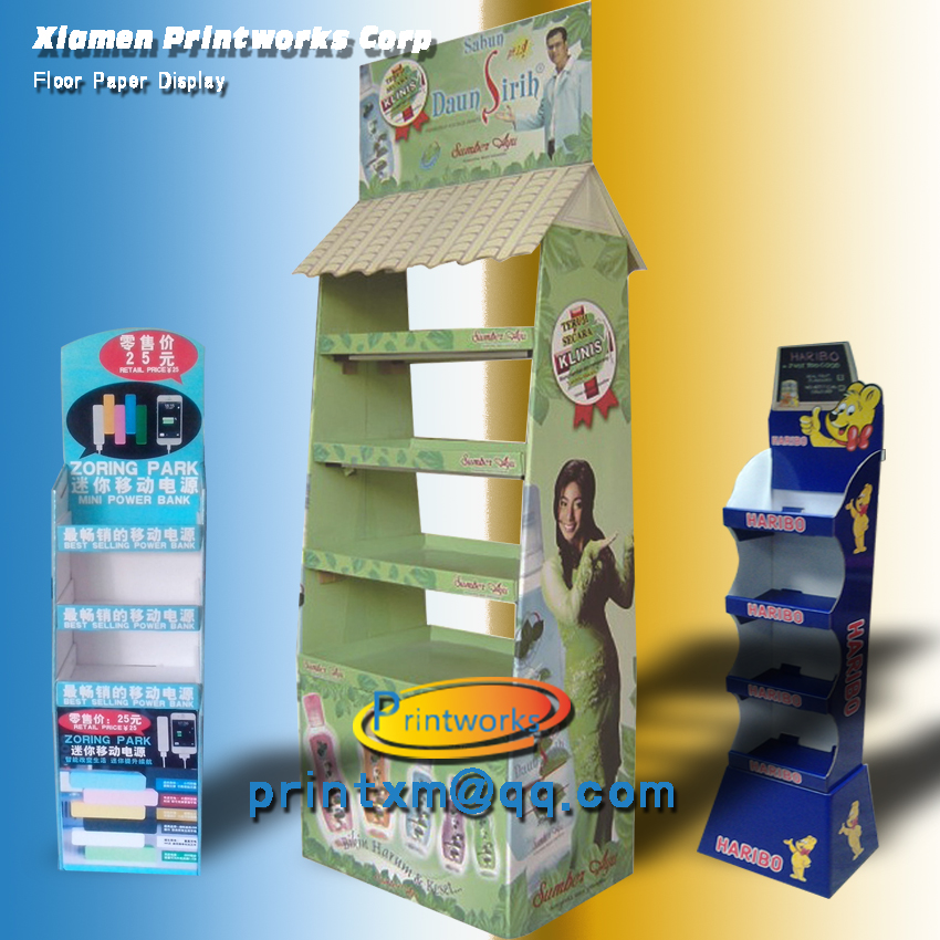 Eye-catching A cardboard Pos Display standee for Advertising