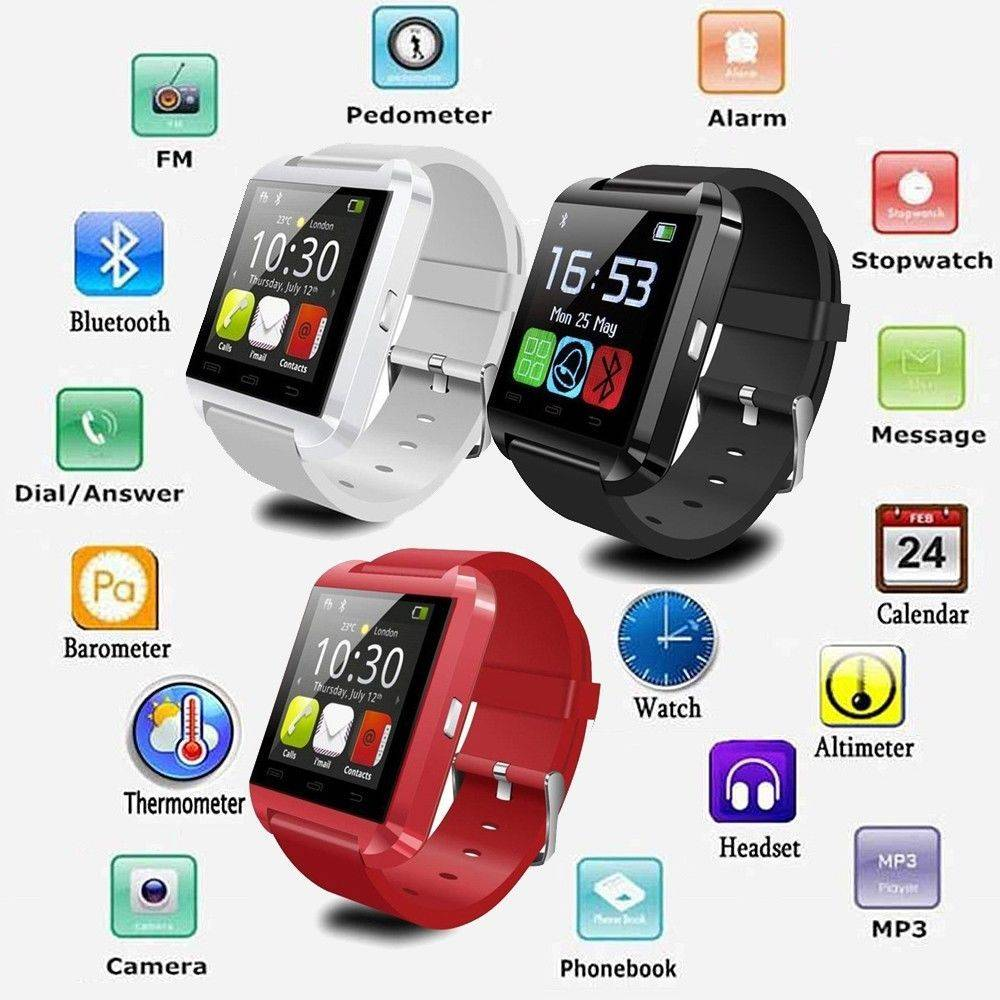 2015 Wholesale Touch Screen Cheap Health Care Smart Watch U8 OEM