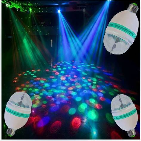 Wholesales RGB 3W Full Color Rotating Bulb Christmas Decoration Lights