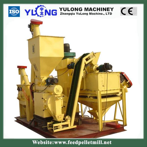 simple animal feed pellet roduction line for sale(0.6-1.5t/h)