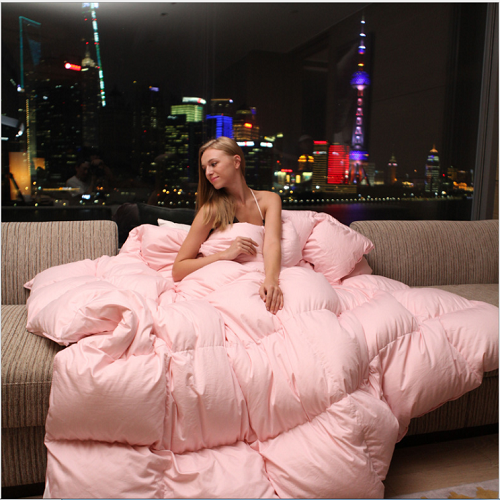 Alibaba Pink Bulk production duvet , anti-Snore and massage comforters