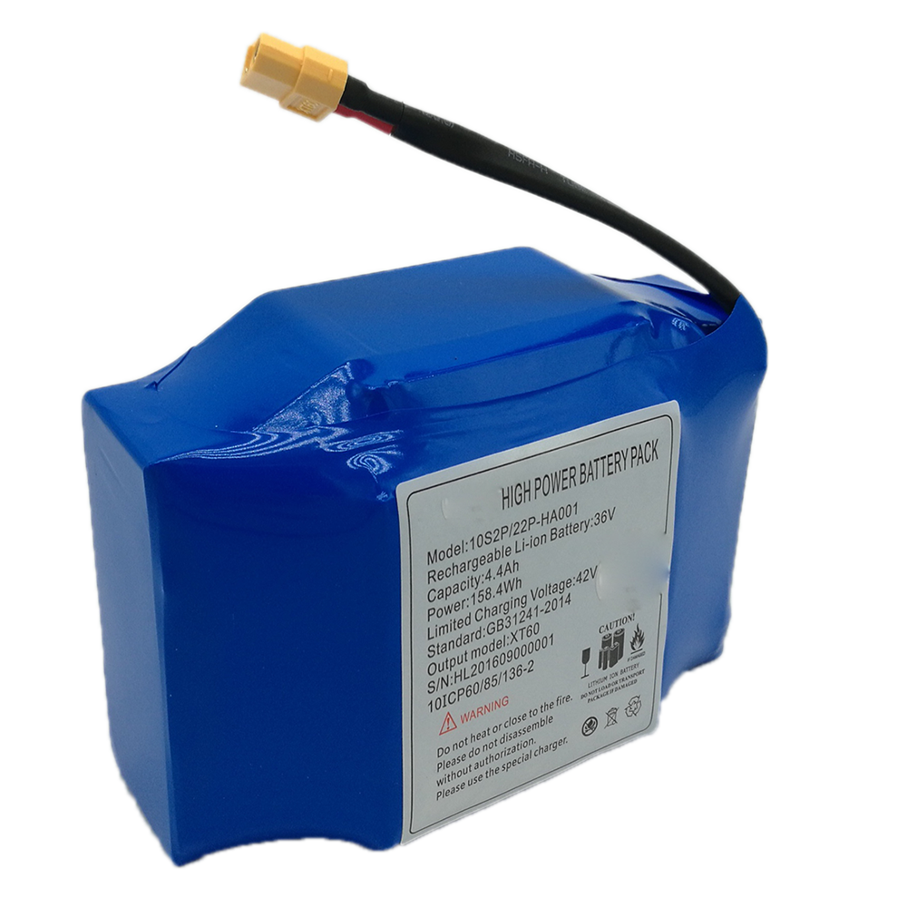 Self Balance Scooter Battery 36V 4.4Ah 4400mAh with BMS IEC62133 FCC CE Approval