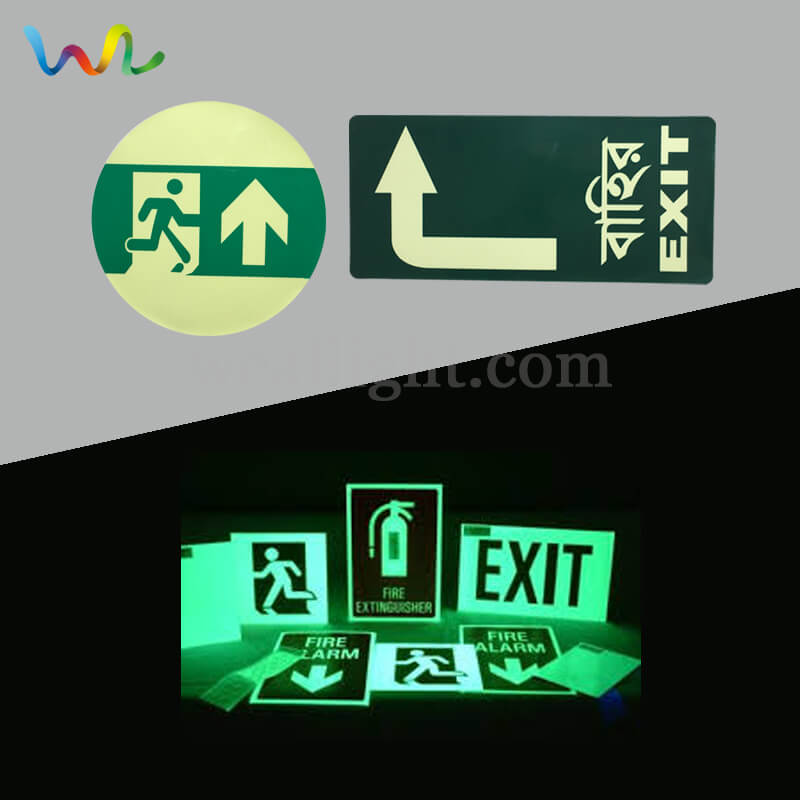 Emergency Exit Signs, Glow In The Dark Safety Signs, emergency evacuation signs