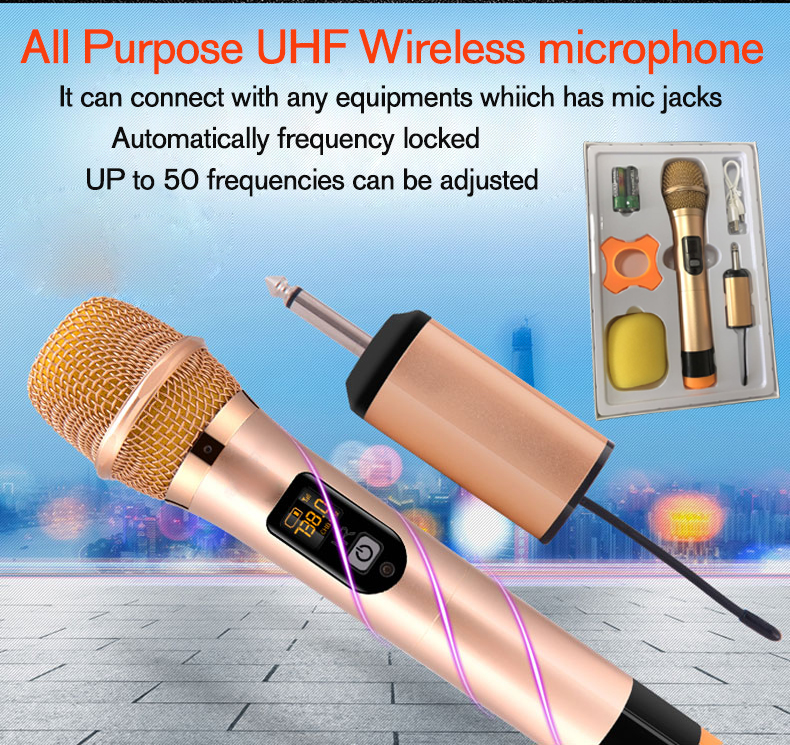 All-purpose UHF wireless microphone