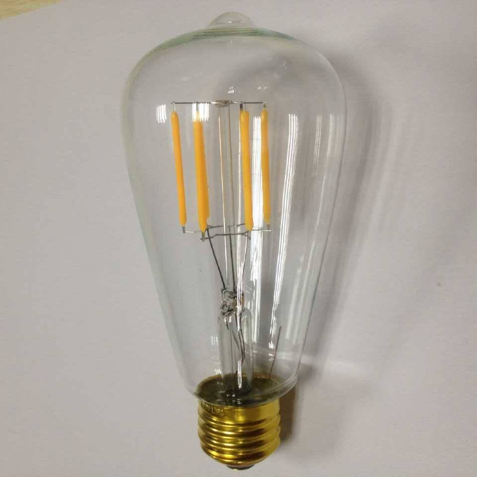 UL cUL ETL approved dimmable ST21 LED filament Edison bulb E26/E27 Warm white
