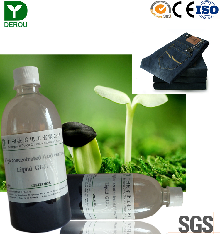 factory price Textile chemical biopolishing Acid Cellulase Enzyme for cotton and denim washing