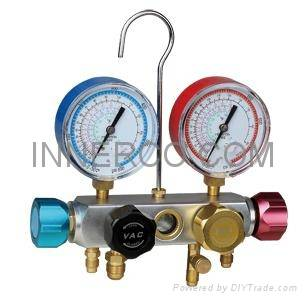Aluminum Manifold Gauge for R12. R22. R134a. 410a (IC-R736G)
