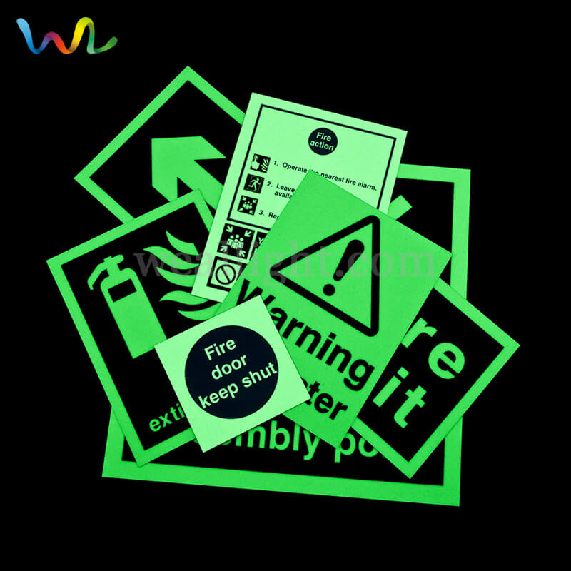 Safety Signs, Glow In The Dark Exit Signs, Photoluminescent Fire Safety Signs