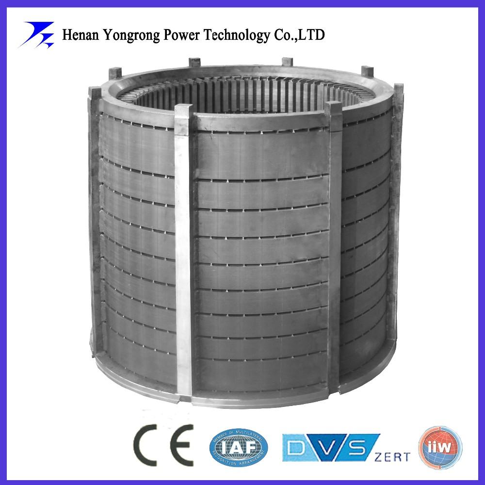 Induction motor stator rotor laminated cores