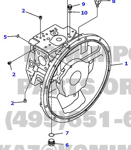 komatsu excavator pc220-7 hydraulic pump 708-2L-00112 main pump