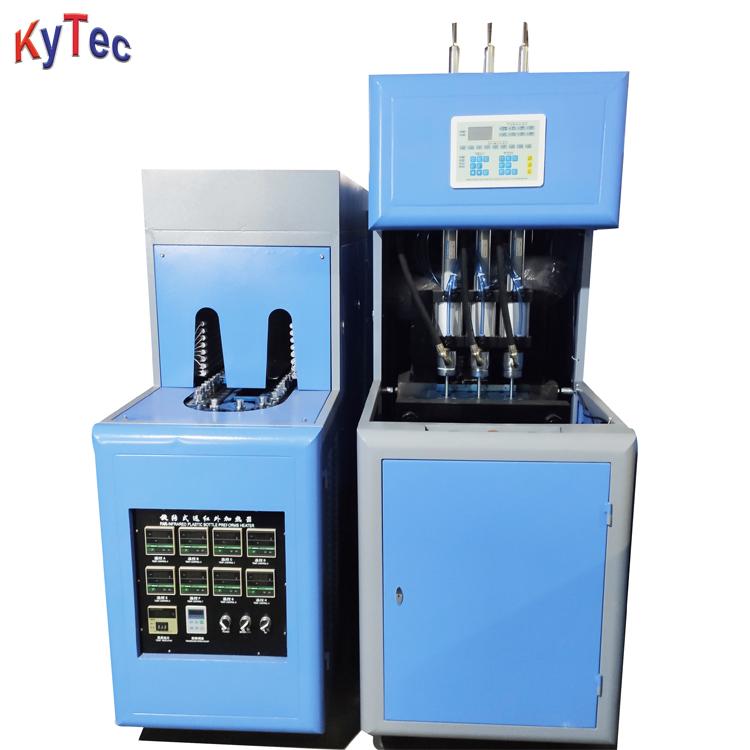 Semi Automatic 3 Cavity PET Bottle Blowing Machine For 0.01-1.5 Liter
