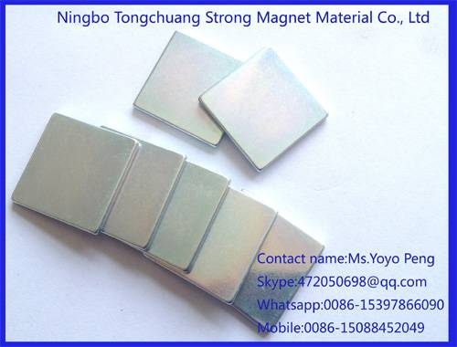 customize Zinc coating neodymium magnets