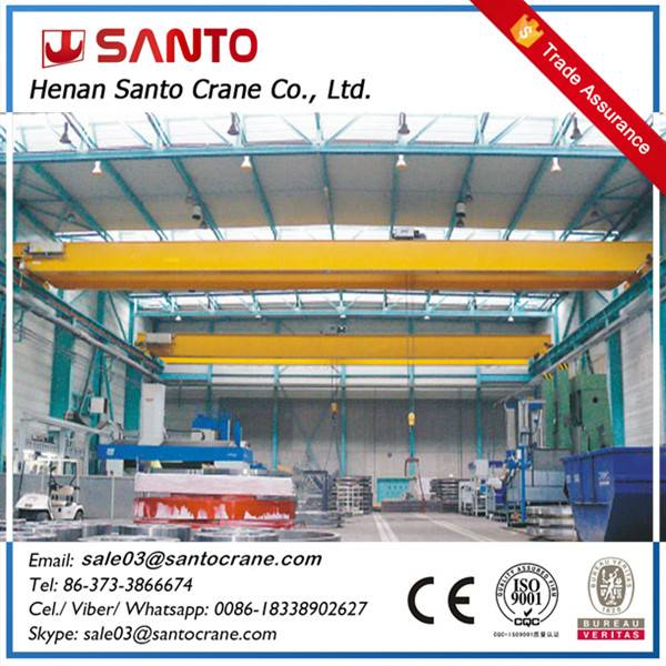 1 ton to 20 ton single beam girder eot bridge crane with electric hoist