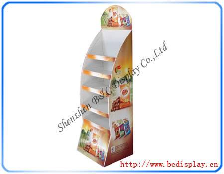 Floor paper stand shelves for chips
