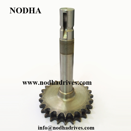 Welding chain sprocket with shaft