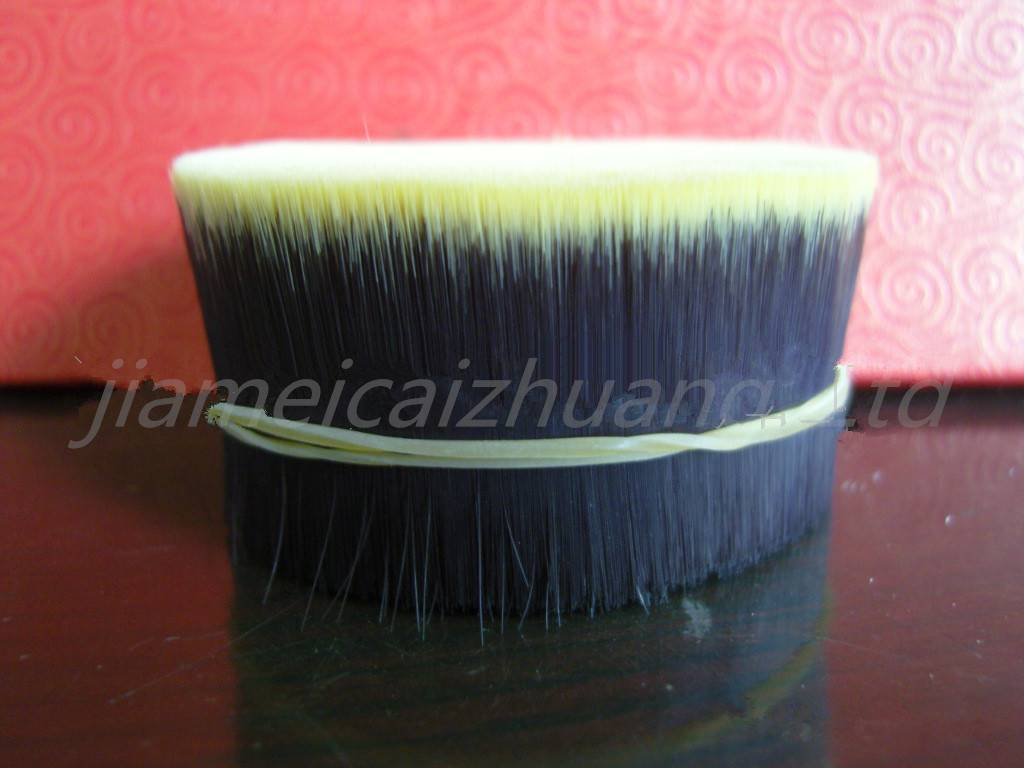 double colour synthetic fibre hair material