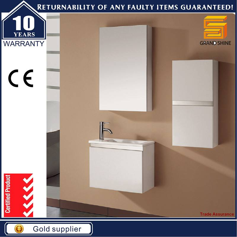 Best Quality Two Doors Lacquer Bathroom Cabinets with Mirror Cabinet