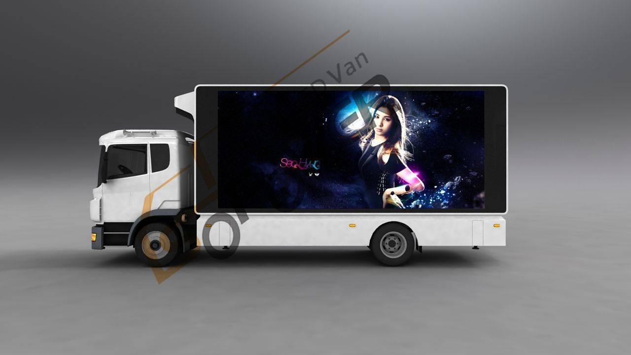 SoPower Medium-Sized Digital LED Van iTruck 9