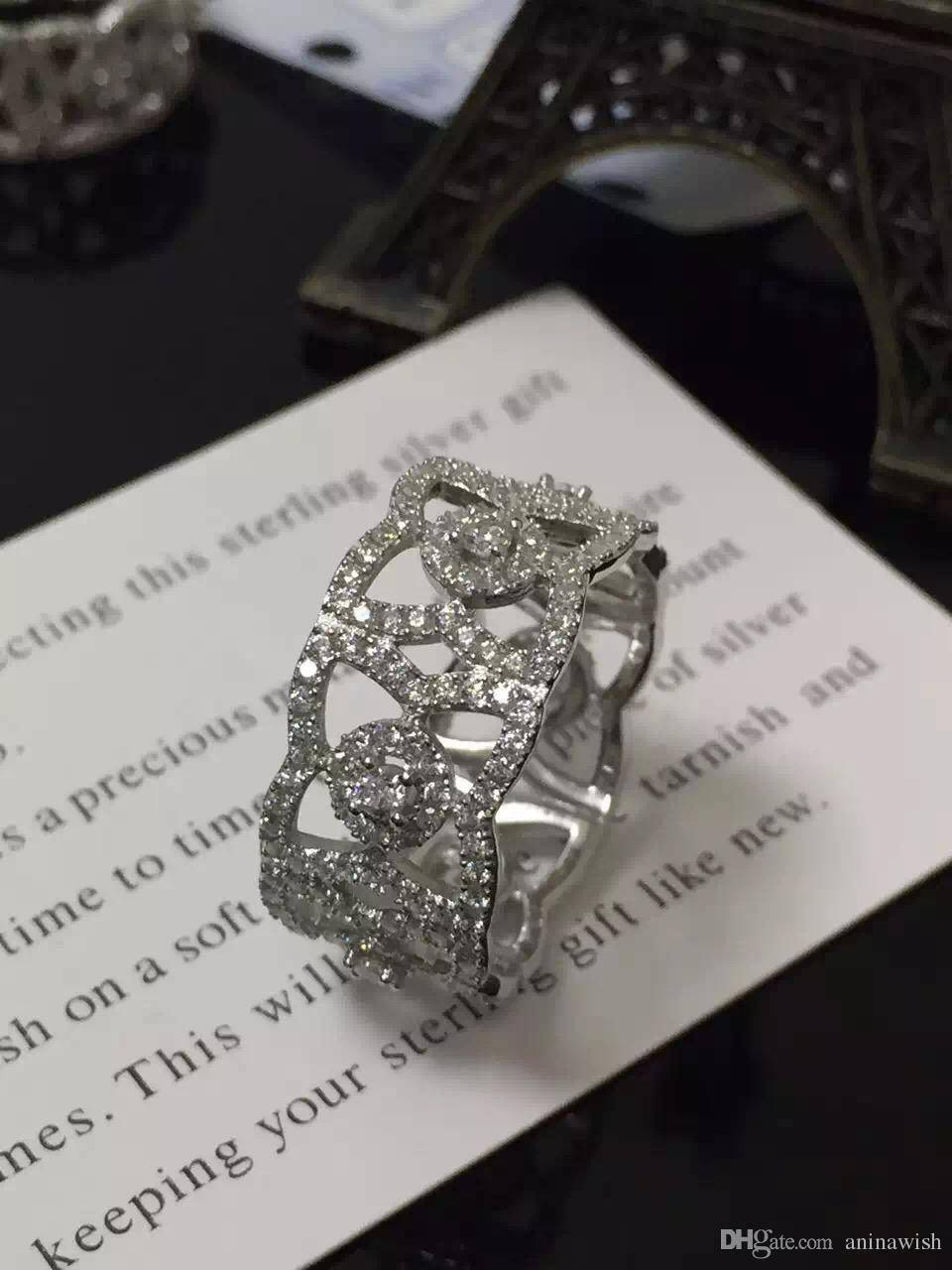 NEFFLY pretty new Rings 925 silver crystal Top Quality..