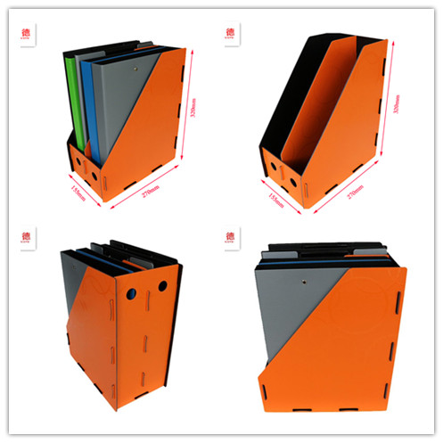 hot selling factory price A4 PP foam file folder strong paper box vertical 2 layers magazine file