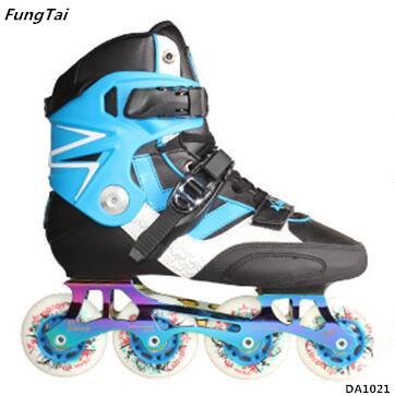 High Quality Semi Soft Roller Inline Skate Shoes Blue Color (DA1021)