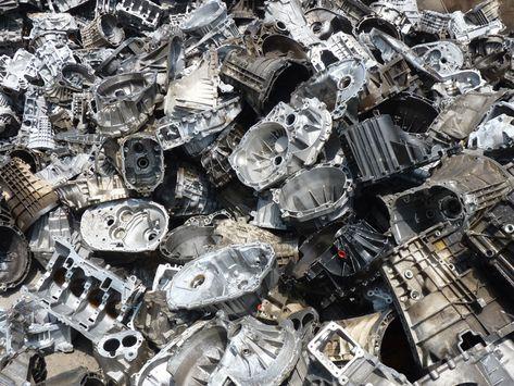 Cast aluminum engine block scraps