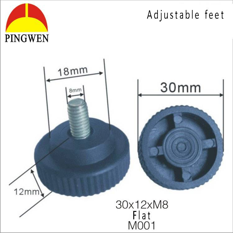 Adjustable leveling feet