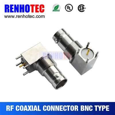 29.5mm Right Angle BNC Jack Connector For PCB Mount