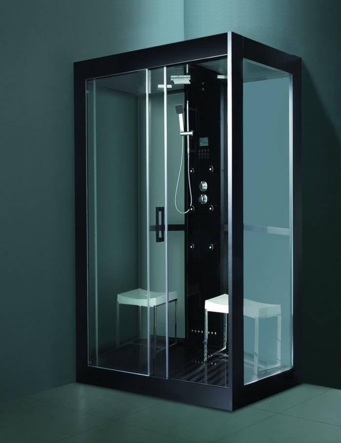 Black style steam room with tempered glass M-8285