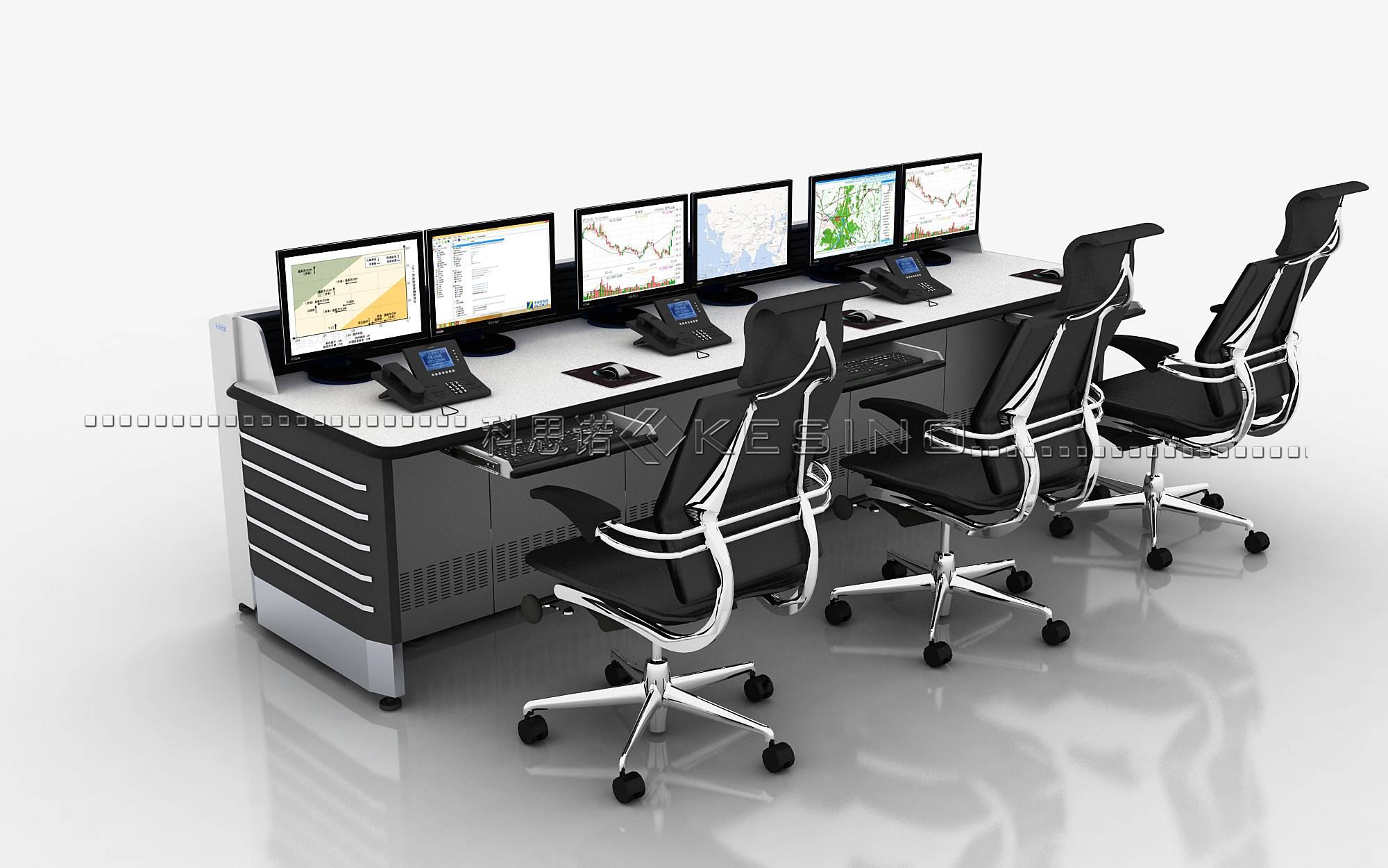 ISO Certified console for scheduling ,office Furniture