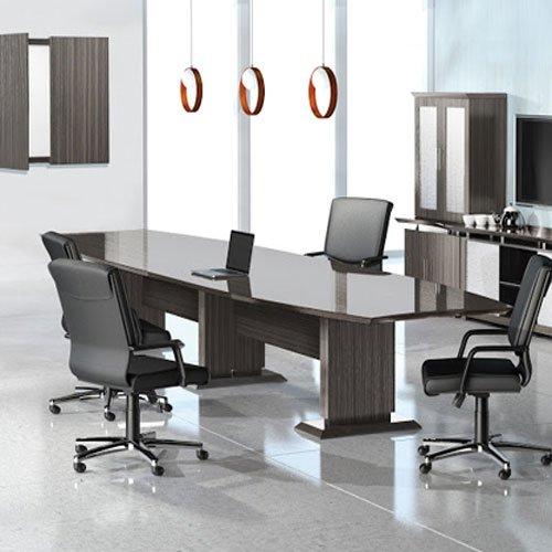 Modern Designer Conference Room Table, Office Meeting Boardroom, 10ft 12ft 14ft (10ft, Textured Drif