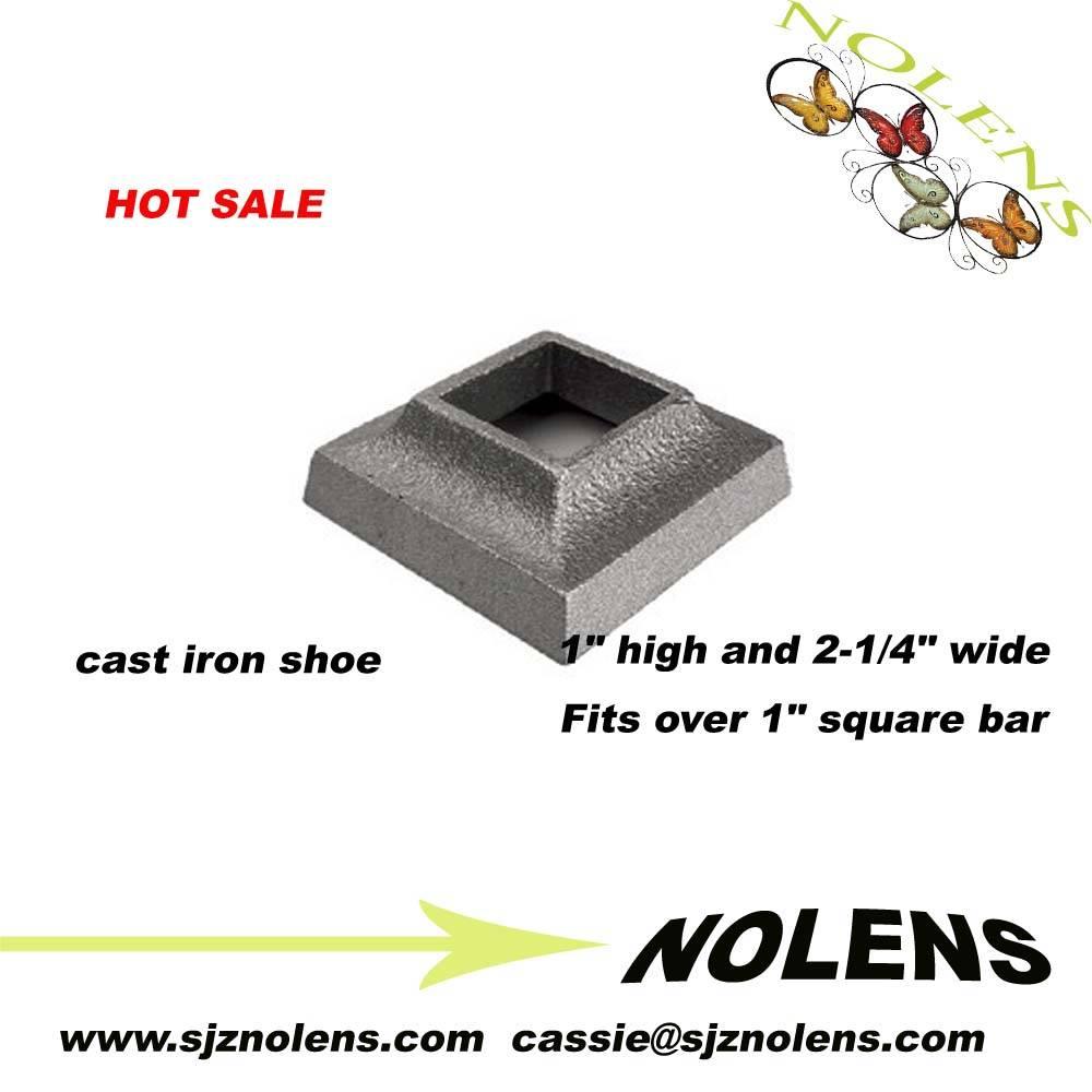 "Cast Iron Base Shoe for 1/2"" Square Bar"