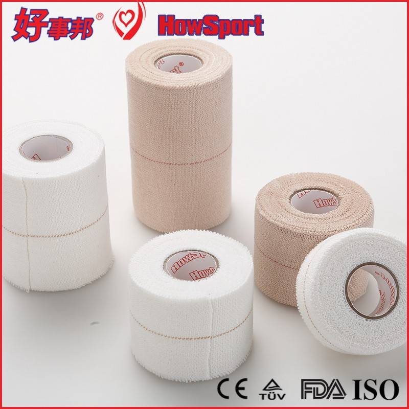 HowSport heavy weight EAB elastic adhesive stretch non tear strapping cotton tape bandage