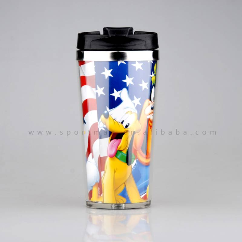 Starbucks Double Wall Stainless Steel Paper Photo insert Coffee Mug Travel Mug