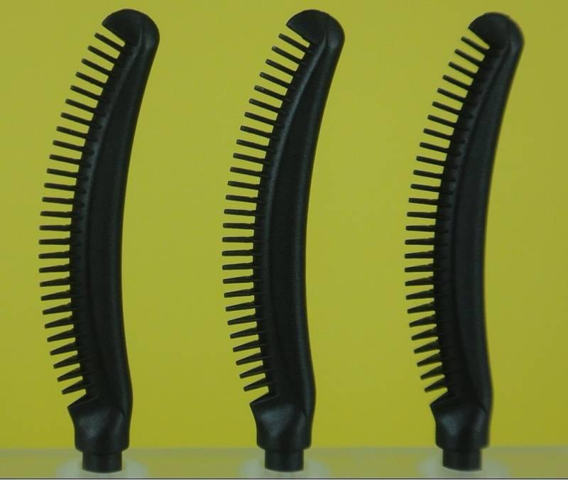 China Hot Silicone Plastic Nylon Fiber Eyelash Eyebrow Eyeliner Mascara Brush Glass Bottle QZ-02
