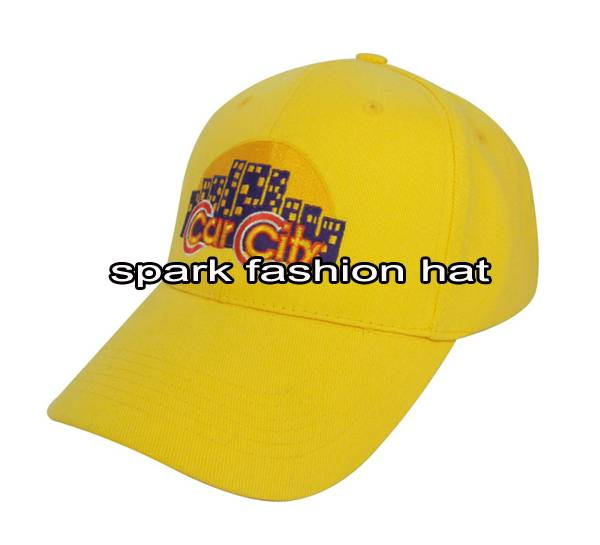 High quality yellow color 6 panel promotional baseball cap