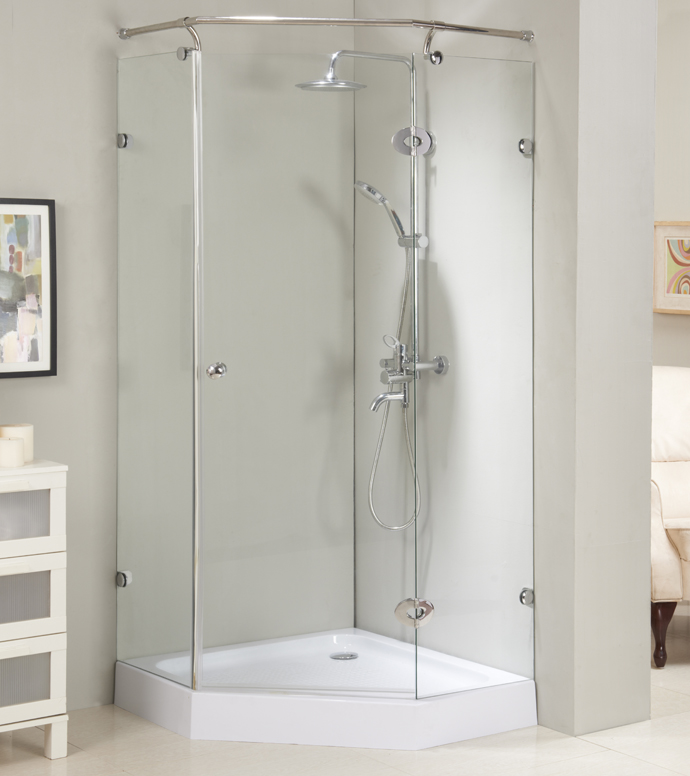 Frameless NEO shower room shower enclosure with stainless steel #304 fixed bar accessories