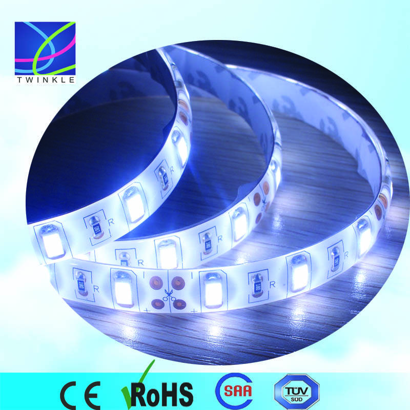 super brightness strip light, white 6000k 60leds 12v
