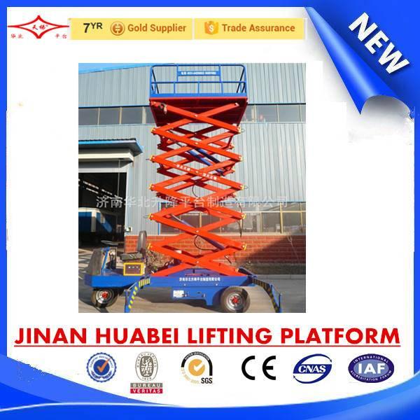 China high working performance self propelled platform lift