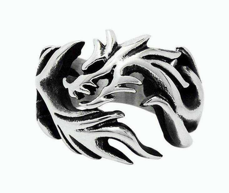 Stainless Steel Chinese Dragon rings